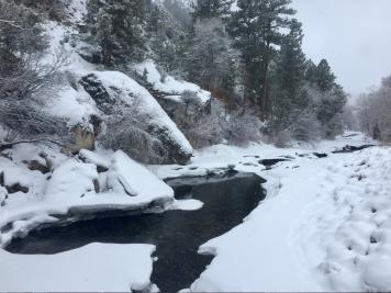 Ten Sleep Creek in Winter.
